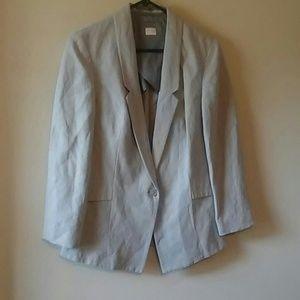 POETRY Boyfriend Blazer Silk/Linen Blend(4)Gray